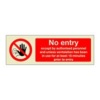 No entry except by authorised personnel (Marine Sign)