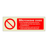 Microwave oven Safety Instructions (Marine Sign)