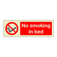 No smoking in bed (Marine Sign)