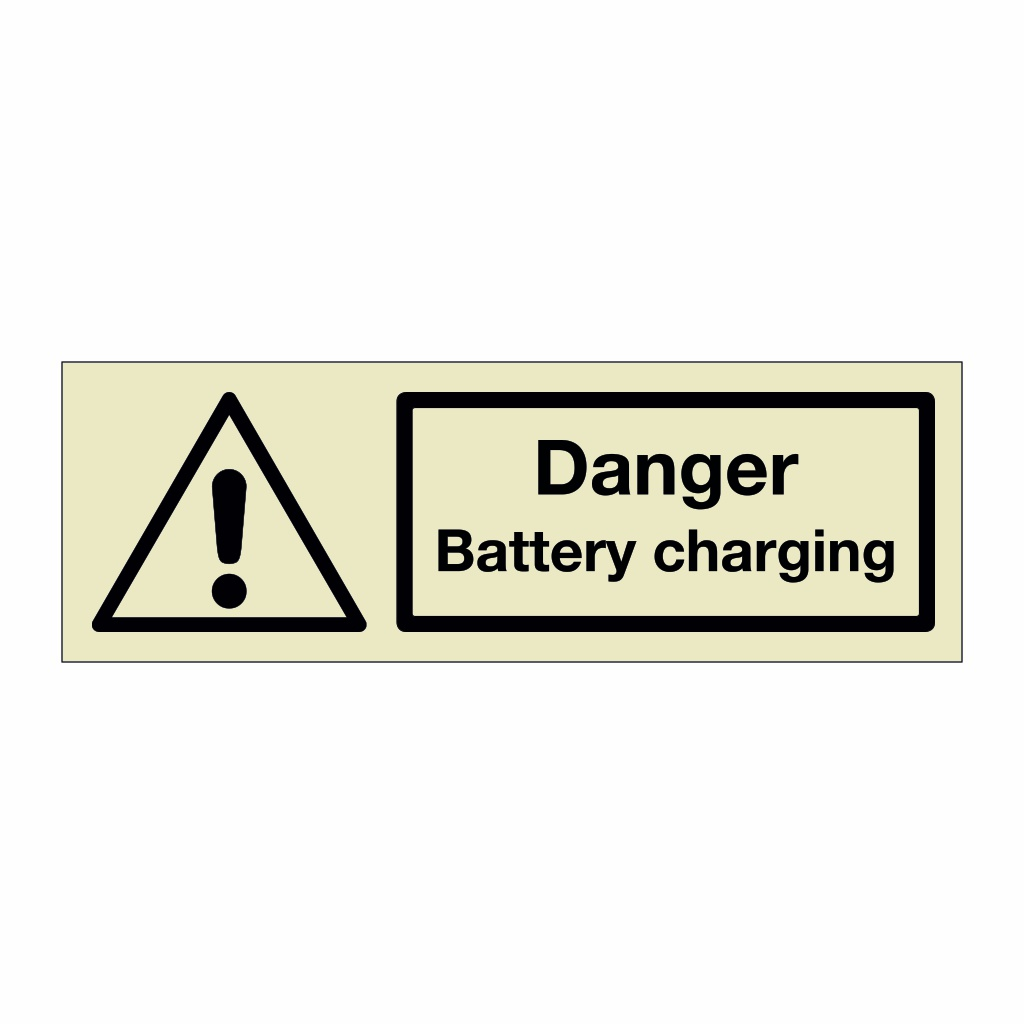 Danger Battery charging (Marine Sign)