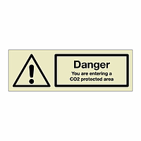 Danger CO2 protected area (Marine Sign)