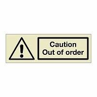 Caution Out of order (Marine Sign)