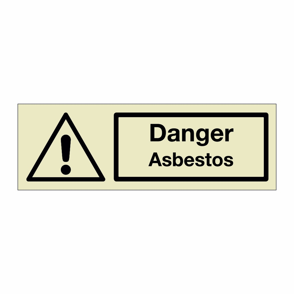 Danger Asbestos (Marine Sign)