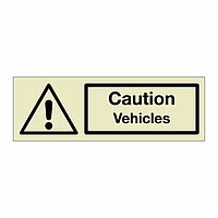 Caution Vehicles (Marine Sign)