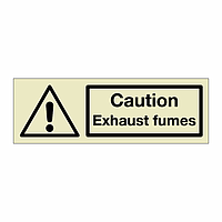 Caution Exhaust fumes (Marine Sign)