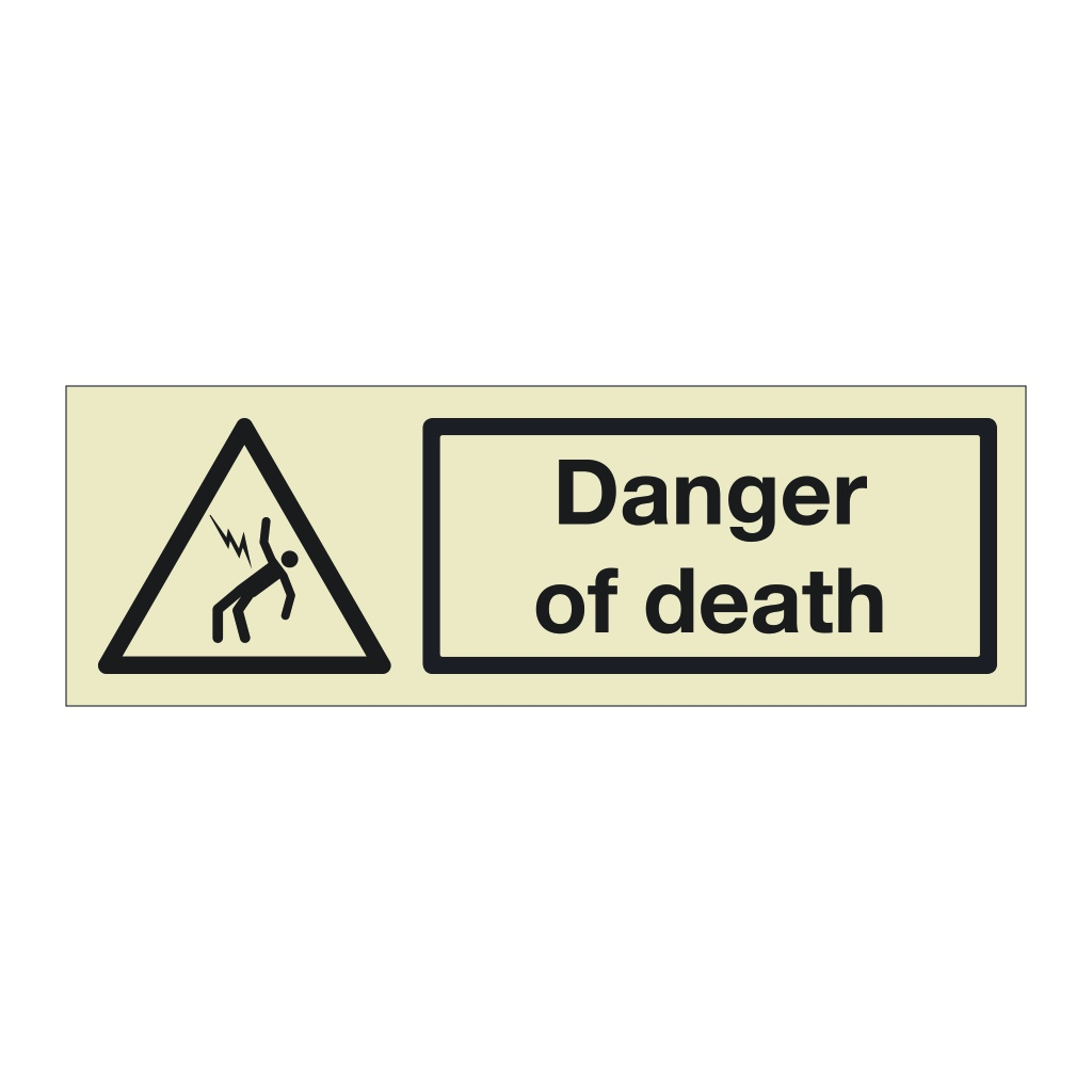 Danger of death (Marine Sign)