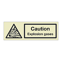 Caution Explosion gases (Marine Sign)