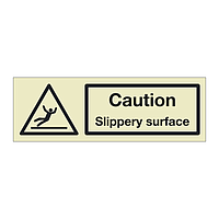 Caution Slippery surface (Marine Sign)