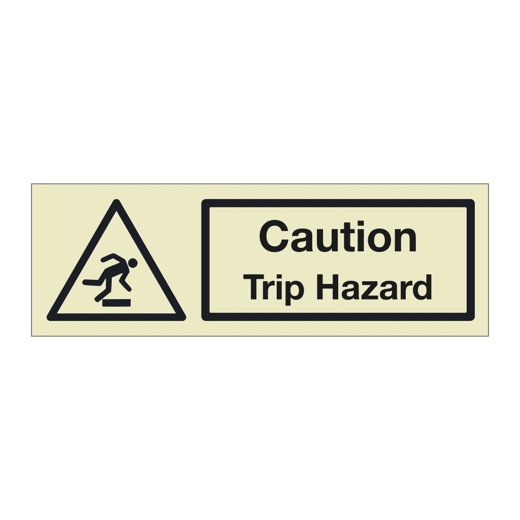 Caution Trip hazard (Marine Sign)