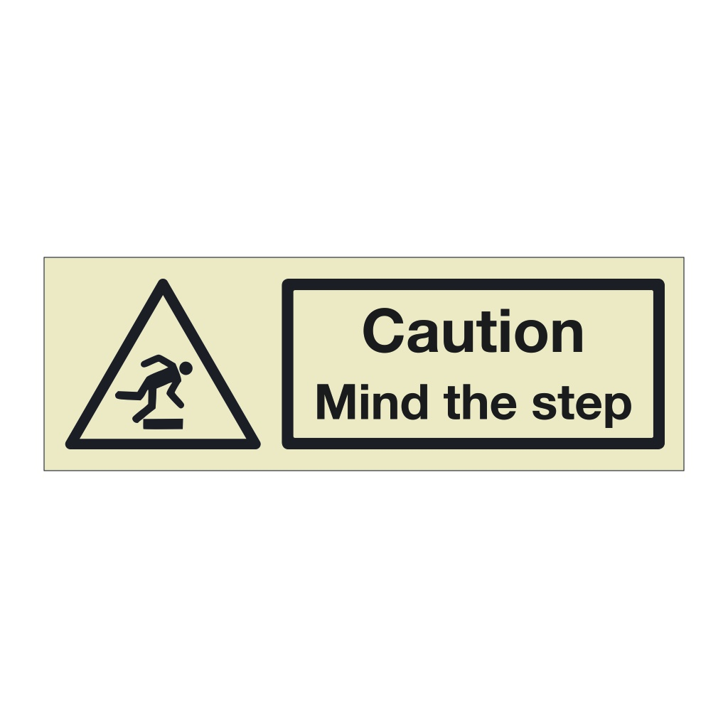 Caution Mind the step (Marine Sign)