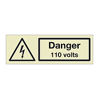 Danger 110 volts (Marine Sign)