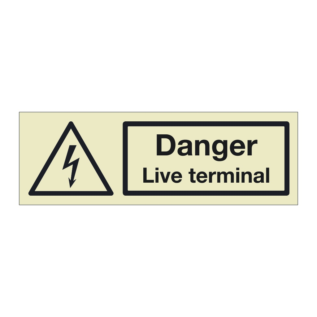 Danger Live terminal (Marine Sign)