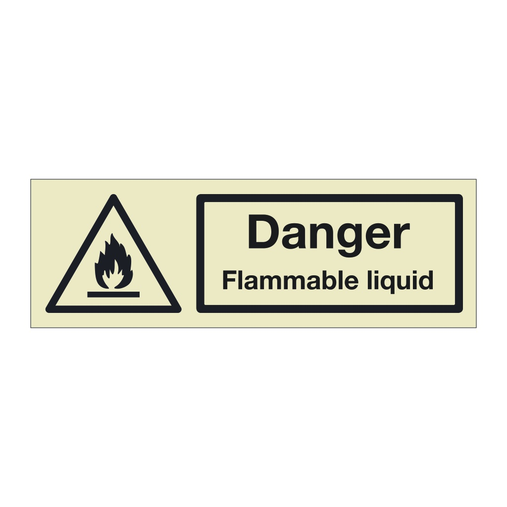 Danger Flammable liquid (Marine Sign)