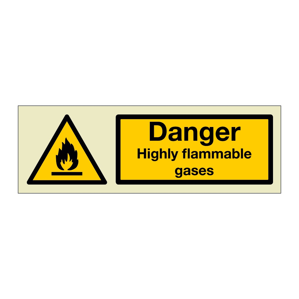 Danger Highly flammable gases (Marine Sign)