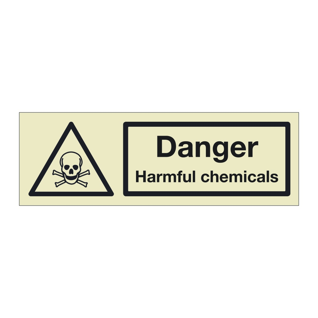 Danger Harmful chemicals (Marine Sign)