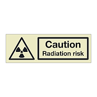 Caution Radiation risk (Marine Sign)