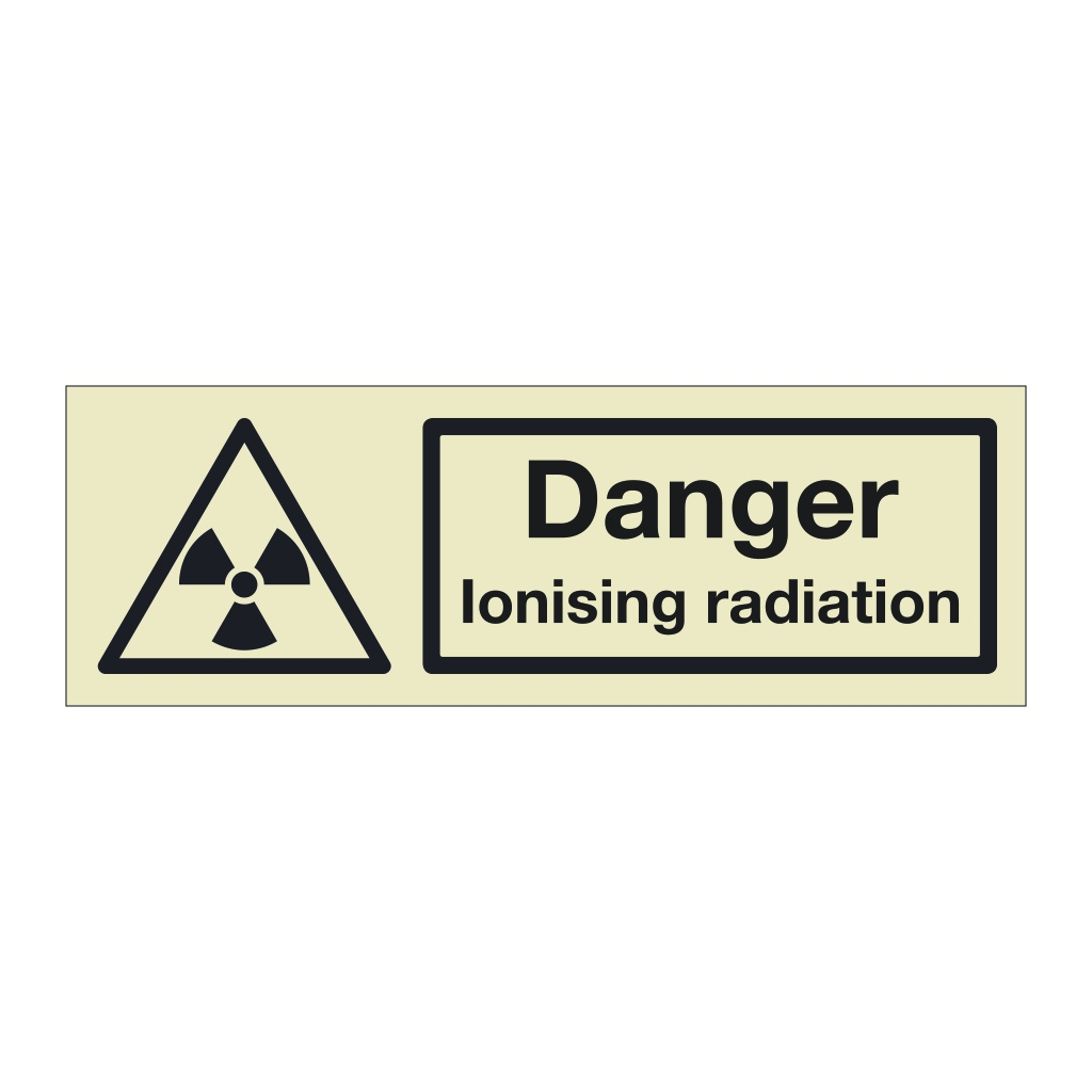 Danger Ionising radiation (Marine Sign)
