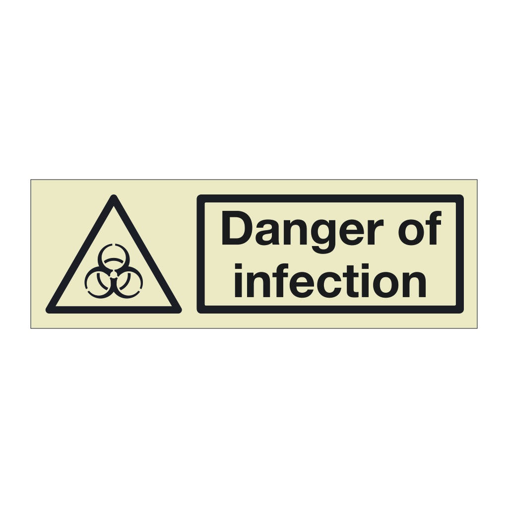 Danger of infection (Marine Sign)
