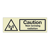 Caution Non-ionising radiation (Marine Sign)
