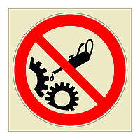 Do not oil symbol (Marine Sign)