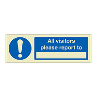 All visitors please report to (Marine Sign)