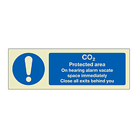 CO2 Protected area (Marine Sign)