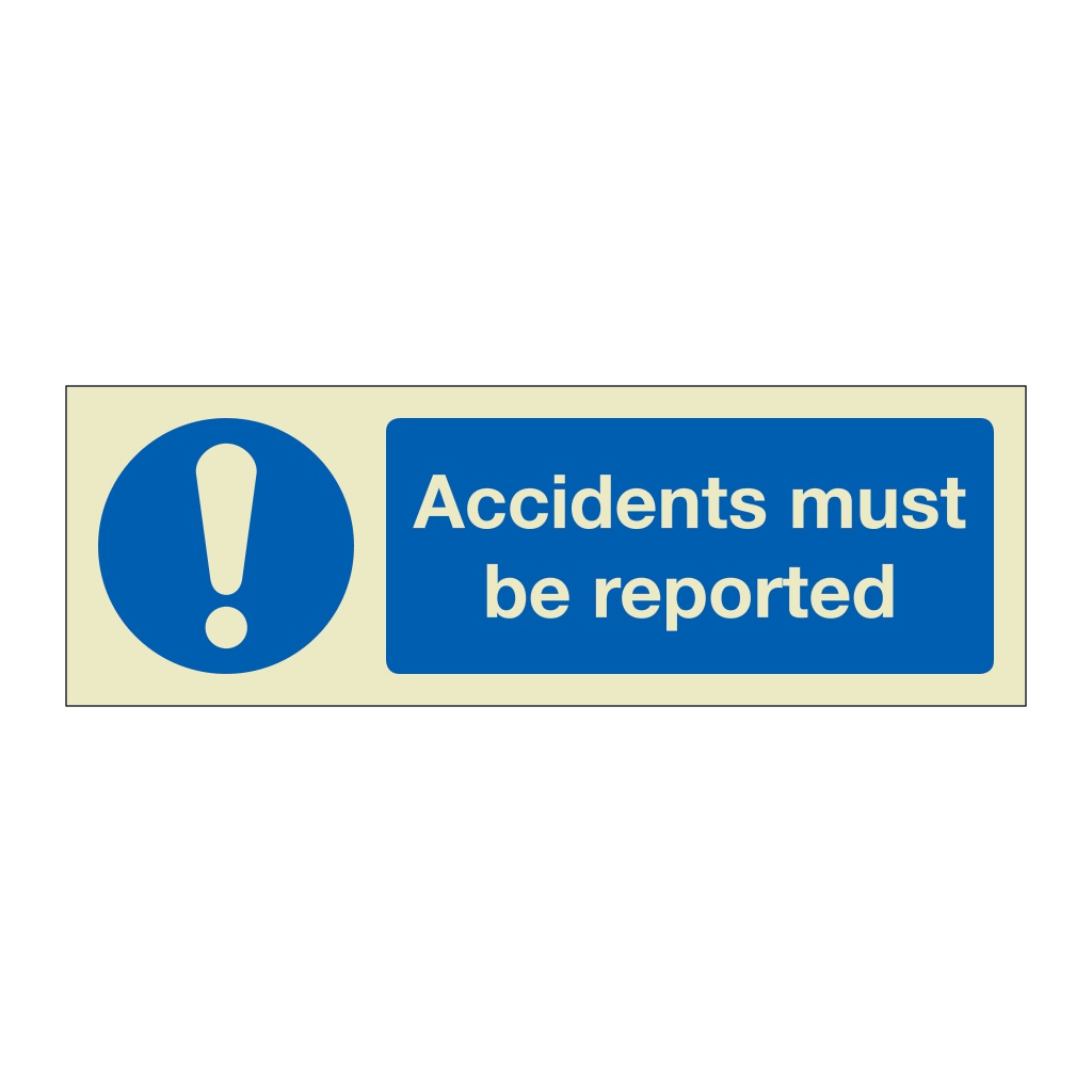 Accidents must be reported (Marine Sign)