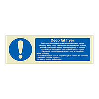 Deep fat fryer instructions (Marine Sign)