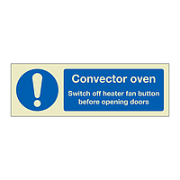 Convector oven instructions (Marine Sign)