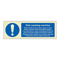 Dish washing machine instructions (Marine Sign)