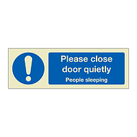 Please close door quietly (Marine Sign)