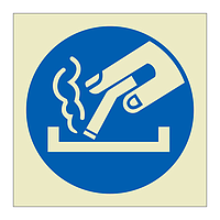 Dispose of cigarette in ashtray Symbol (Marine Sign)