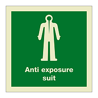 Anti-Exposure Suit with Text (Marine Sign)