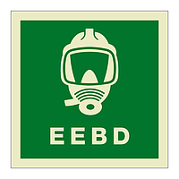 Emergency Escape Breathing Device with text (Marine Sign)