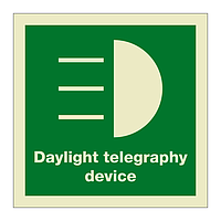 Daylight Telegraphy Device with text (Marine Sign)