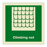 Climbing Net with text (Marine Sign)