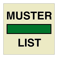 Muster List (Marine Sign)