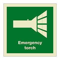 Emergency Torch with text (Marine Sign)