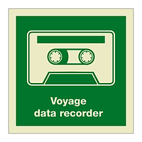 Voyage Data Recorder with text (Marine Sign)