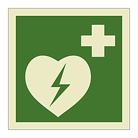 Automated External Heart Defibrilator symbol (Marine Sign)