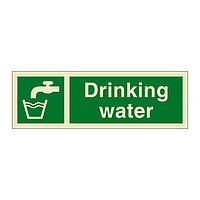 Drinking Water with Text (Marine Sign)
