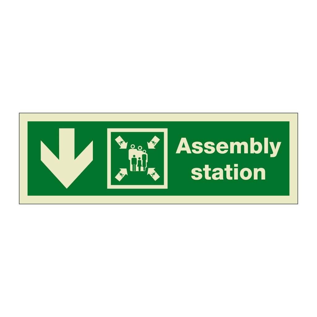 Assembly Station Arrow Down (Marine Sign)