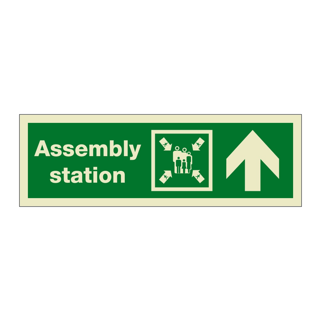 Assembly Station Arrow Up (Marine Sign)