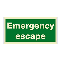 Emergency Escape (Marine Sign)