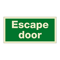 Escape Door (Marine Sign)