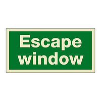 Escape Window (Marine Sign)