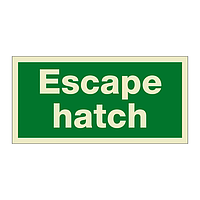 Escape Hatch (Marine Sign)