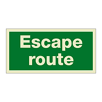 Escape Route (Marine Sign)