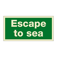 Escape To Sea (Marine Sign)