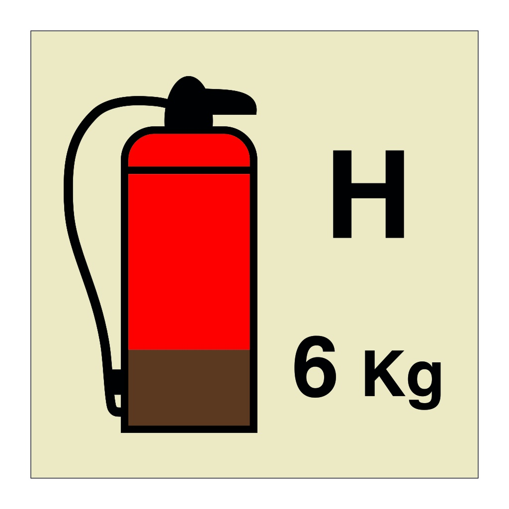 6kg Halon Fire Extinguisher (Marine Sign)